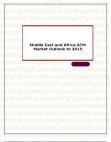 Middle East and Africa ATM Market Outlook to 2015