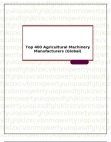 Top 400 Agricultural Machinery Manufacturers (Global)