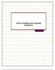 China Healthcare Market Analysis