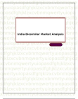 India Biosimilar Market Analysis