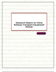 Research Report on China Railway Transport Equipment Market