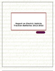 Report on Electric Vehicle Traction Batteries 2012-2022