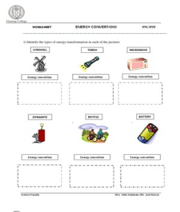 Forms Of Energy Types Worksheet In Addition Worksheet Reading For ...