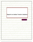 Report on Indian Tractor Industry