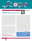 2012 Fall SCOPE - The Official SAGES Newsletter