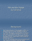 FBI and Digital Surveillance