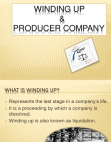 Winding Up and Producer Company