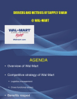 Walmart - Drivers & Metrics of Supply Chain