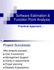 Software Estimation & Function Point Analysis