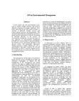 Geographic Information Systems in Environmental-Management