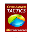 Tactics on Yahoo Answers