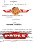 Project report on Parle-g Biscuits