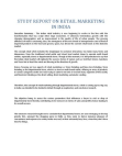 Study Report on Retail Marketing in India