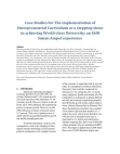 Case Studies for The implementation of Entrepreneurial Curriculum