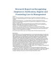 Research Report on Recognizing Employees