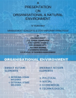 Presentation on Organizational & Natural Environment
