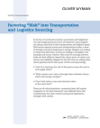 Study on Factoring Risk into Transportation and Logistics Sourcing