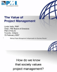 Introduction to Value of Project Management