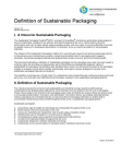 Study on Sustainable Packaging
