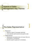 Study on Key of Sales Management