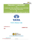 Blackbook project on comparative analysis of tata motors industry & customer satisfaction