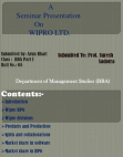 project on wipro