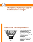 project on international marketing