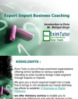 Export Import Business Training Project