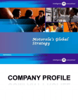 PROJECT ON MOTOROLA GLOBAL STRATEGY
