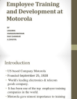 PROJECT ON EMPLOYEE TRAINING AND DEVELOPMENT OF MOTOROLA