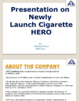 PRESENTATION ON ITC CIGARETTE HERO