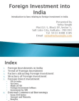 PRESENTATION ON FOREIGN INVESTMENT IN INDIA