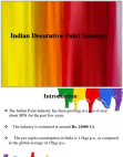 PRESENTATION ON INDIAN DECORATIVE PAINT  INDUSTRY