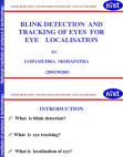 Blink Detection and Tracking of Eyes For Eye Localization