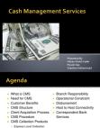 Project Report on Cash Management Services