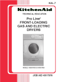 KitchenAid KAL-7 Pro Line Front-Loading Gas and Electric Dryers