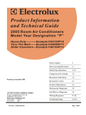 Frigidaire 2005 Room Air Conditioner (RAC) Service Manual
