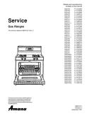 Amana Gas Range Service Manual
