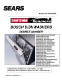 Bosch Dishwasher Sears Service Manual