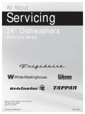 Frigidaire 2400 Series Dishwasher Service Manual