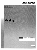 Maytag 1998 Square Front Dryer