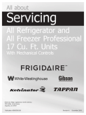 Frigidaire All Refrigerator and All Freezer Pro Service Manual