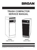 Broan Trash Compactor 1