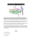 Projects on Cost of Capital