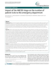 Impact of the ABCDE triage on the number of patient visits to the emergency departm