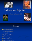 Inhalation Injuries