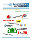 Project report on  Mobile Number Portability (MNP)