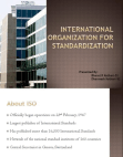 International Organisation for Standarization