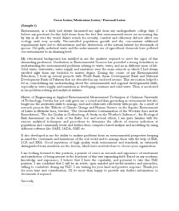 Cover letter phd studentship