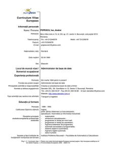 Curriculum vitae completat in romana weeksseal curriculum vitae completat in romana yelopaper Choice Image